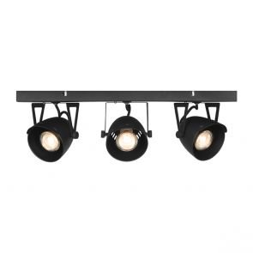 LED Spot Cap 3-Lichts Zwart Metaal 1