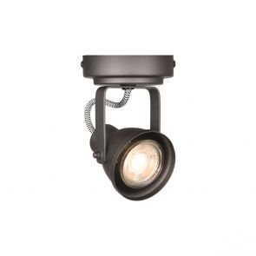 LED Spot Max 1-lichts Burned Steel Metaal 1