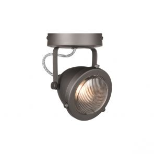 LED Spot Moto 1-Lichts Burned Steel Metaal 1