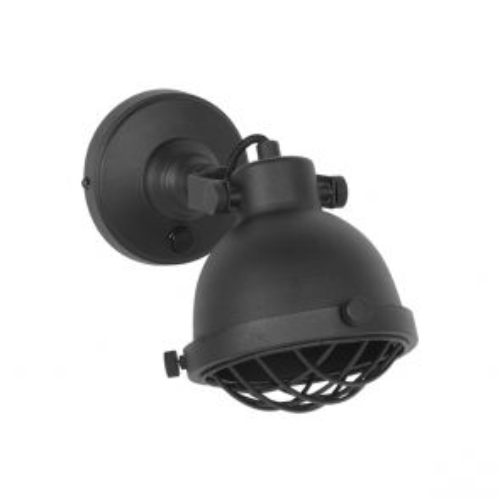 Wandlamp Cas Zwart Metaal